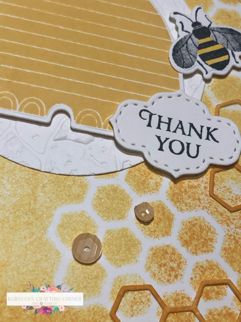 Inspire.Create. Challenge #062 – Honey Bee Thank You Card