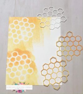 Honey Bee Thank You sponged background